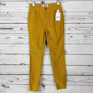 Free People Corduroy Pants Long Lean High Waist 26